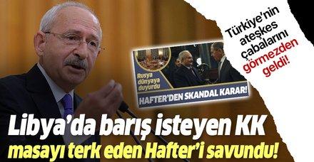 Son dakika: Kemal Kılıçdaroğlu'ndan akılalmaz Hafter açıklaması!