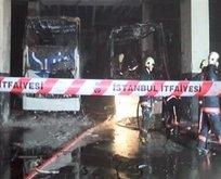 Esenler Otogarı'nda korkutan yangın