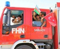 Azerbaycan'dan 220 itfaiye eri daha geldi!
