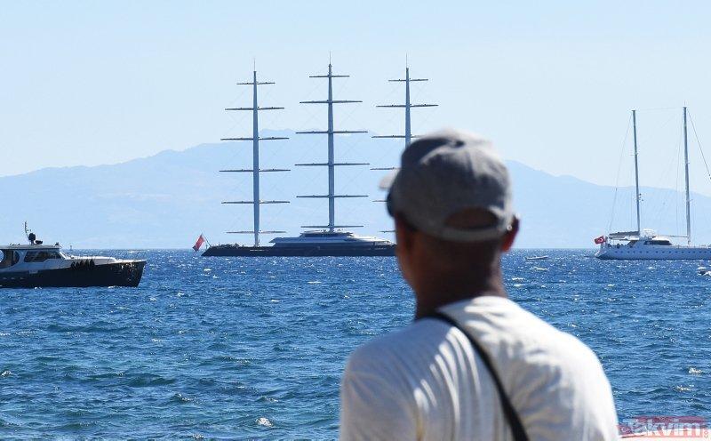 Türkiye'de üretilen dev yelkenli Malta Şahini Bodrum'da