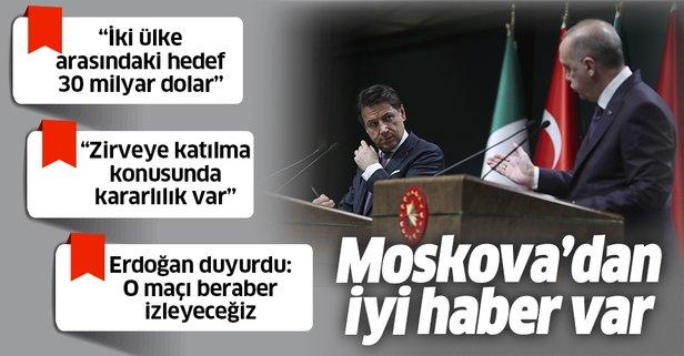 Erdoğan ve Conte'den flaş Libya açıklaması