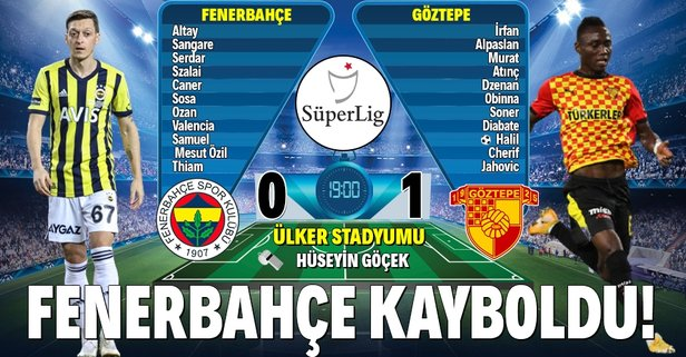 Fenerbahçe kayboldu!