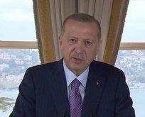 Başkan Erdoğan'dan video mesaj