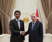 Başkan Erdoğan, Katar Emiri Al Sani ile görüştü