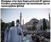 Ayasofya'da kılınan bayram namazı Yunanistan'ı rahatsız etti!