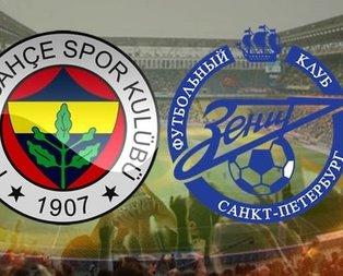 Zenit - Fenerbahçe rövanş maçı ne zaman?