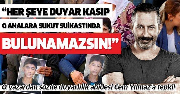 Her şeye duyar kasan Cem Yılmaz Diyarbakır'daki acılı anneler sessiz!