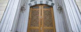 Çamlıca Camii'ne 6 tonluk kündekari kapı