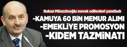 Müezzinoğlu: Kamuya 60 bin personel alınacak