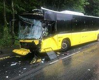 Belediye otobüsleri çarpıştı! Facia ucuz atlatıldı