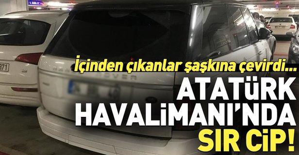 Atatürk Havalimanı'nda sır cip!