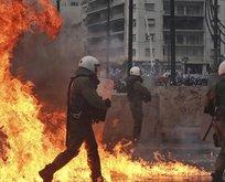 Yunanistan'da Prespa protestosu!