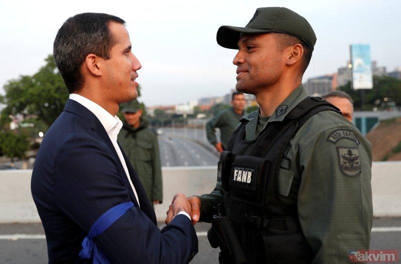 Venezuela'da darbe girişimi! İşte ilk görüntüler...