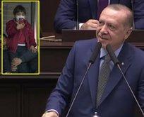 İşte Başkan Erdoğana Tayyip dede diye seslenen çocuk