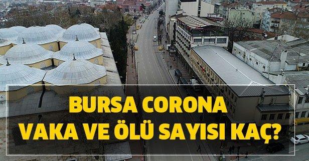 Corona Bursa vaka ölü sayısı kaç oldu? İl il vaka sayıları Bursa Corona son durum!