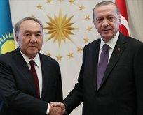 Başkan Erdoğan, Nazarbayev ile görüştü