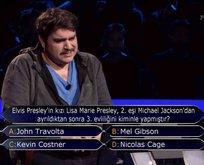 Milyoner'de cevabı merak edilen Elvis Presley sorusu...