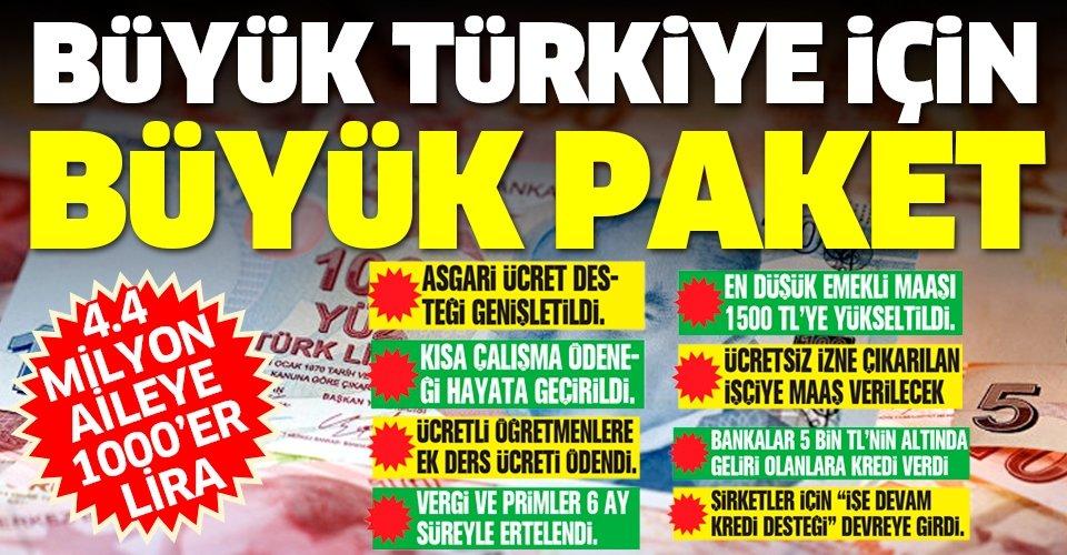 Büyük Türkiye için büyük paket! 83 milyona destek