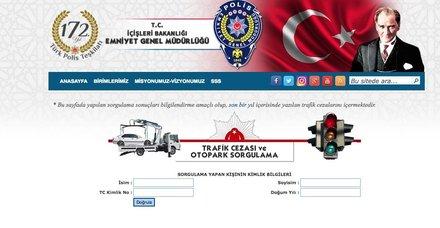 EGM trafik cezası sorgulama sayfası