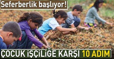 Çocuk işçiliğine karşı 10 adım