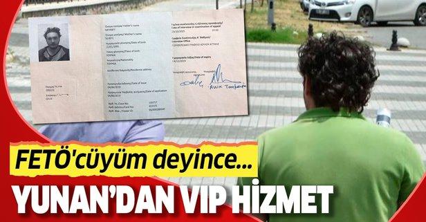 Yunan polisinden VIP hizmet! FETÖ'cüyüm deyince...