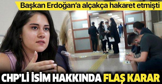 CHP'li isim hakkında mahkeme kararını verdi