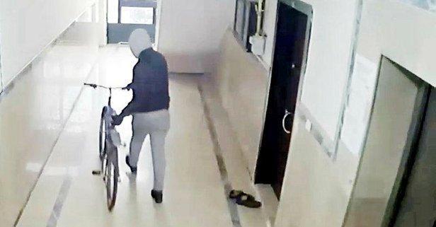 Apartmanlardan bisiklet hırsızlığı