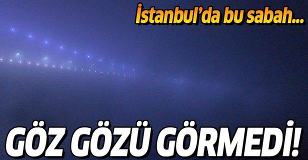 İstanbul Boğazı'nda yoğun sis!