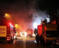 Ataşehir'de deterjan fabrikasında yangın
