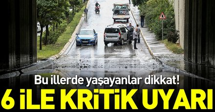 Son dakika: Meteorolojiden 6 ile kuvvetli sağanak yağış uyarısı! İstanbulda bugün hava nasıl olacak?