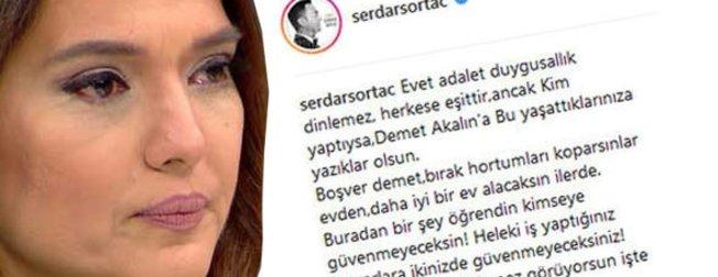 Demet Akalın'a bir destek de Serdar Ortaç'dan geldi: Kimseye güvenmeyeceksin