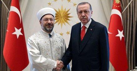 Cumhurbaşkanı Erdoğan, Diyanet İşleri Başkanını kabul etti