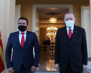 Başkan Erdoğan, Makedonya Başbakanı Zaev'i kabul etti