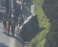 TEM'de kaza: Trafik yoğun!