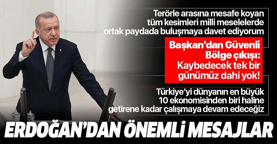 Başkan Erdoğan'dan TBMM açılış töreninde önemli mesajlar