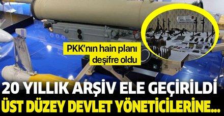 20 yıllık PKK arşivleri ele geçirildi! Üst düzey devlet yöneticilerine...