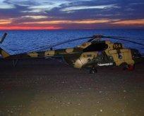 Azerbaycan helikopteri Giresun'a acil iniş yaptı