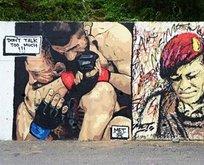 Khabibin grafitisi Ömer Halisdemirin yanında!