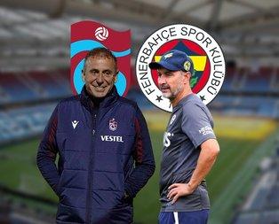 İşte Trabzonspor - Fenerbahçe maçının muhtemel 11'leri