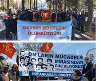 HDP ve CHP yine terörist etkinliğinde bir arada