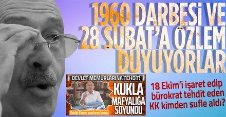 Bürokratları tehdit eden KK'ya 18 Ekim tepkisi