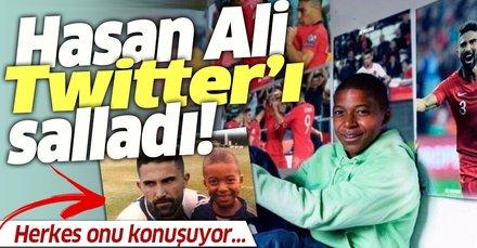 Fransa maçındaki performansıyla çok konuşulan Hasan Ali Kaldırım capsleri sosyal medyayı salladı