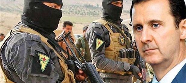 Teröristleri korumak için kirli ittifak! PKK/YPG Esad'a polis olacak