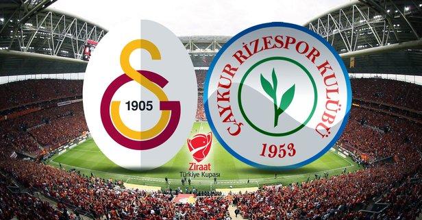 Galatasaray-Rizespor maçı hangi kanalda?