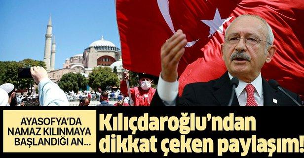 Kılıçdaroğlu'ndan dikkat çeken paylaşım! Ayasofya'da namaz...