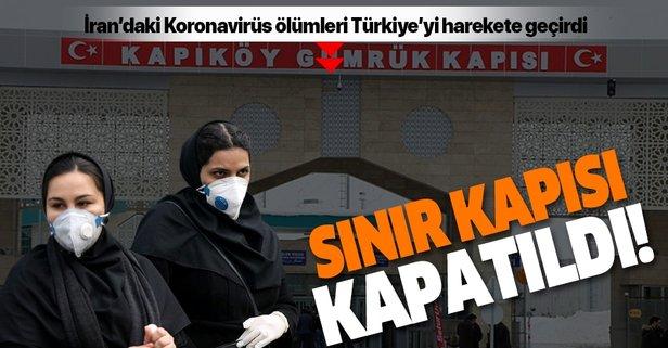Türkiye Koronavirüs nedeniyle İran sınırını kapattı!