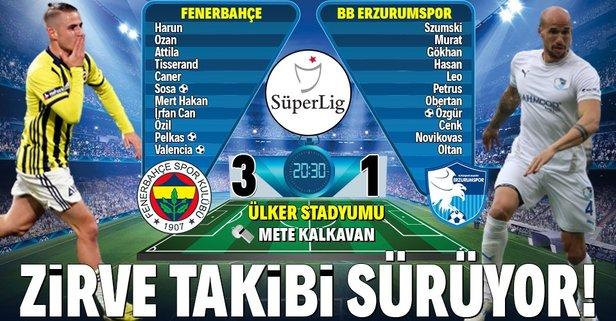 Fenerbahçe zirve takibini sürdürüyor!
