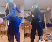 Dans videosunun devamını paylaştı