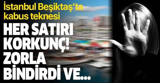 İstanbul Beşiktaş'ta kâbus teknesi