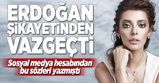 Erdoğan, Şekerci hakkındaki şikayetinden vazgeçti